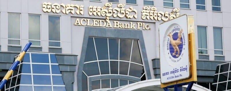 Acleda est une banque cambodgienne avec carte de crédit et paiement