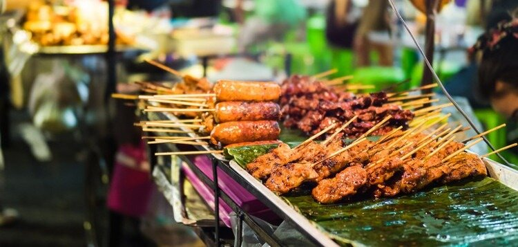 Cheap street food of cambodia : low cost of living