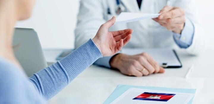 Refunds, health care, prescriptions from international insurance in Cambodia