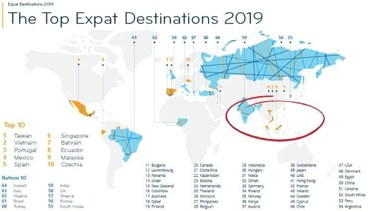 top destinations for expats in South East Asia