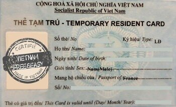 Residence card for expats living in Vietnam