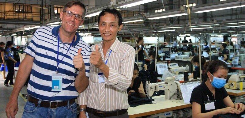 liste d'usines de fabrication parle français anglais au Vietnam