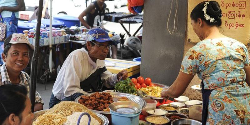 Coût de la vie en Birmanie Myanmar : nourriture et marchés