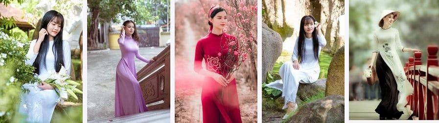 Rencontrer une femme vietnamienne en robe Ao Dai