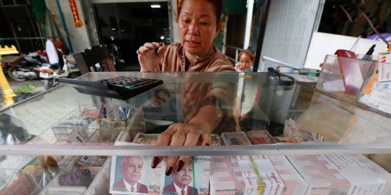 how to change dollar notes to cambodia riel