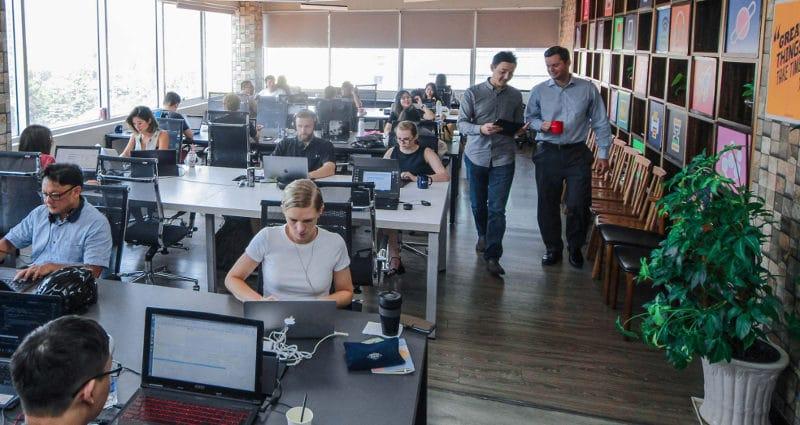 Coworking space Dreamplex in Vietnam