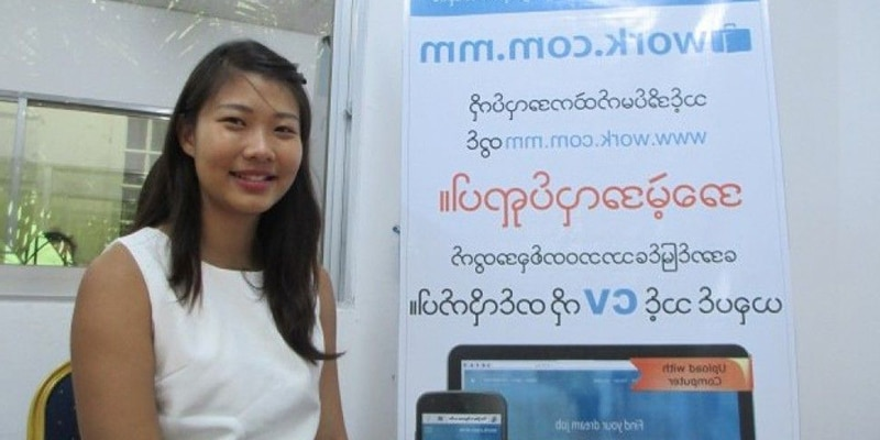 find a job and work in myanmar