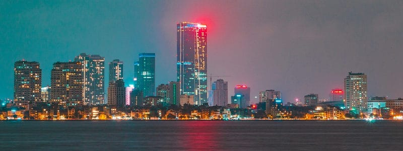 Join a business center in the capital city of Hanoi in Vietnam