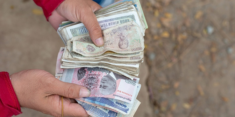 Le riel cambodgien est la monnaie officielle du Cambodge