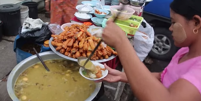 street-food in Myanmar or Burma