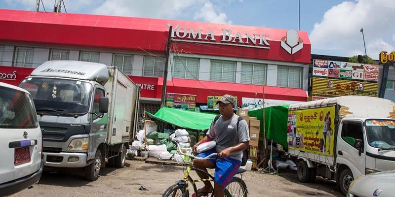 yoma bank in burma myanmar