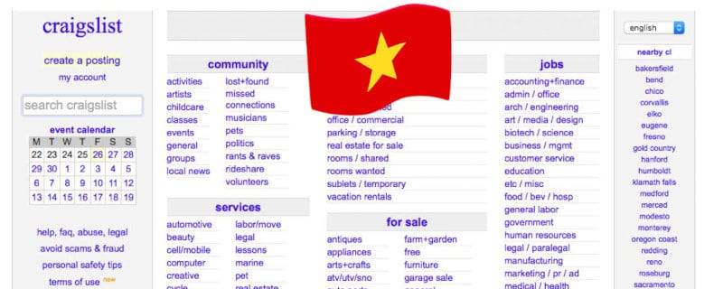 craigslist vietnam to find and rent a room and apartment