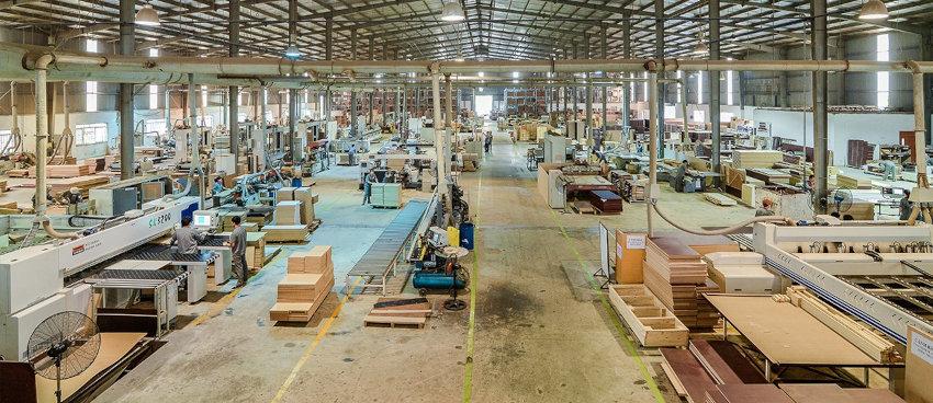 Massive factory for manufacturing furniture in Vietnam
