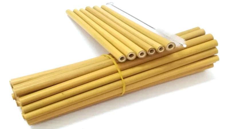 Paille ecologique bambou alternative au plastique