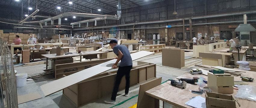 usine de fabrication de meubles au Vietnam pour l'exportation