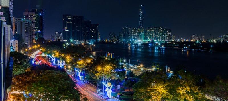 Traffic crowd in big cities like saigon or hanoi